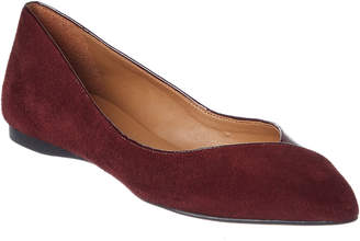 French Sole Peppy Suede & Patent Flat