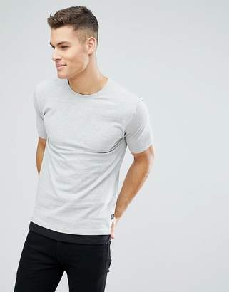 ONLY & SONS Longline T-Shirt In Pique With Faux Layer