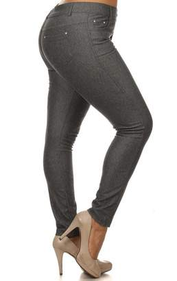 Blend of America Yelete Women's Plus Size Cotton Stretchy Jeggings With 5 Pockets (, XXL)