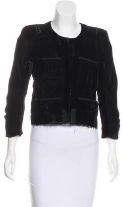 Haider Ackermann Velvet Structured Jacket