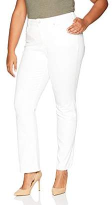 NYDJ Women's Plus Size Marilyn Straight Leg Jean