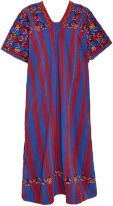 Pippa Holt Red And Blue Striped Cotton Midi Caftan