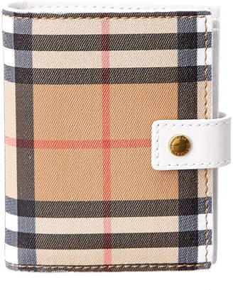 Burberry Small Vintage Check & Leather Folding Wallet