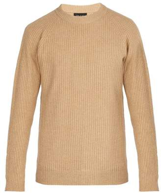 Howlin' - Crew Neck Ribbed Knit Wool Sweater - Mens - Camel