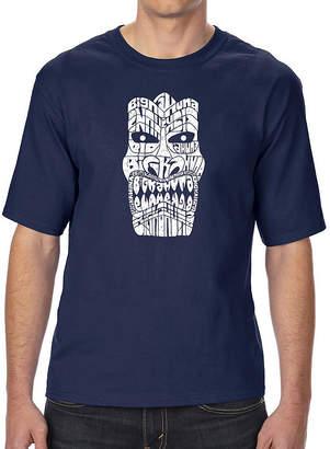 Kahuna LOS ANGELES POP ART Los Angeles Pop Art Men's Tall and Long Word Art T-shirt - TIKI - BIG
