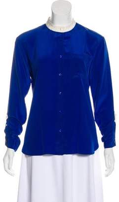 Miss Wu Long Sleeve Button-Up Top
