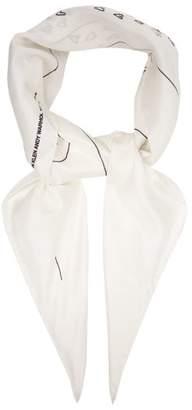 Calvin Klein Andy Warhol Print Silk Scarf - Womens - White