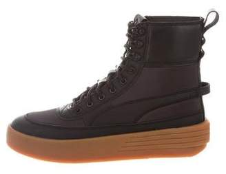 Puma x XO Leather High-Top Sneakers
