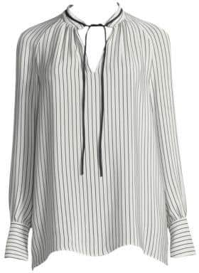 Derek Lam Striped Silk Blouse