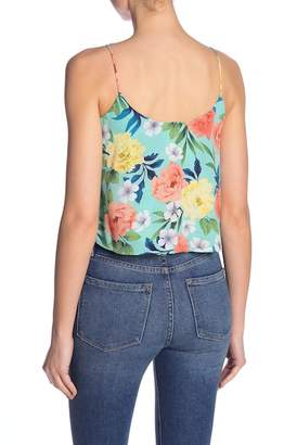 Lush Woven Knot Front Tank