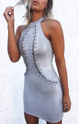 B X Runaway Reveal Mini Dress Dove