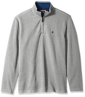 Izod Men's Long Sleeve 1/4 Zip Sweater Fleece Soft Pullover