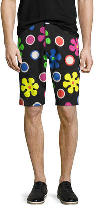 Moschino Psychedelic Flower Print Shorts, Black