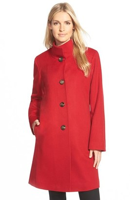 Women's Fleurette Cashmere Stand Collar Car Coat $1,725 thestylecure.com