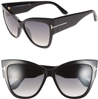 Tom Ford Anoushka 57mm Gradient Cat Eye Sunglasses