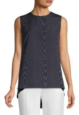 ADAM by Adam Lippes Moire Sleeveless Knotted Top