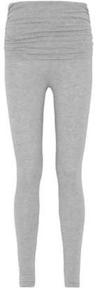 Splendid Ruched Mélange Stretch-Modal Leggings