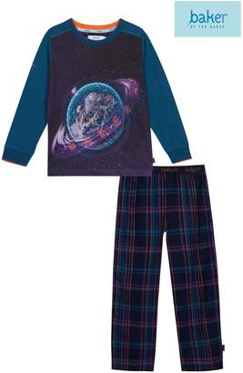 Next Boys baker by Ted Baker Blue Bkb Space Juggler Jersey Pyjama