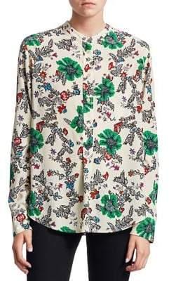 Isabel Marant Rusack Printed Silk Shirt