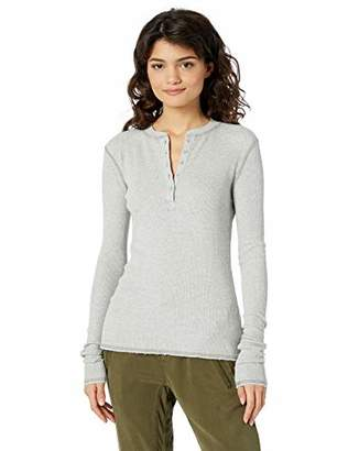AG Adriano Goldschmied Women's VEDA Thermal Long Sleeve Henley