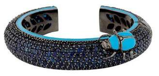 MCL by Matthew Campbell Laurenza Sapphire & Enamel Beetle Bracelet