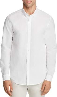Theory Edward Essential Linen Long Sleeve Button-Down Shirt