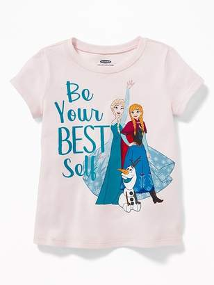 """Old Navy Disney© Frozen """"Be Your Best Self"""" Tee for Toddler Girls"""