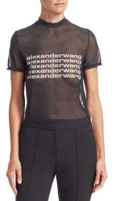Alexander Wang Sheer Graphic Tee