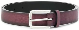 Orciani snakeskin embossed buckle belt