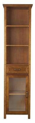 Elegant Home Fashions Calais Linen Cabinet, Oil Oak