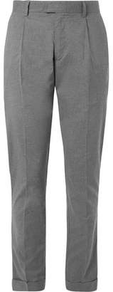 Hartford Cuffed Pleated Cotton Trousers