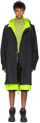 Juun.J Reversible Black and Green Coat