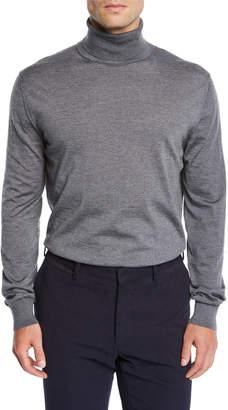 Ermenegildo Zegna Men's Heathered Wool Turtleneck Sweater