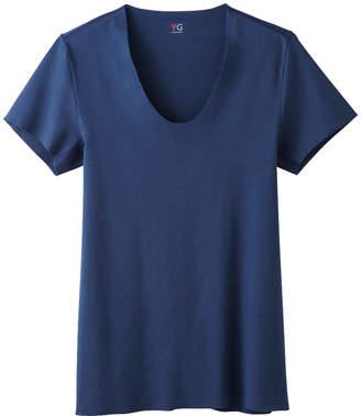 UネックTシャツ(U首)(メンズ)