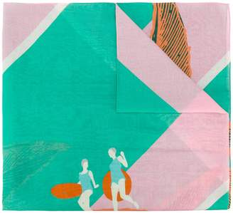 Odeeh jump print scarf