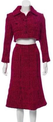 Chanel Tweed Skirt Suit Pink Tweed Skirt Suit
