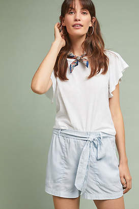 Cloth & Stone Belted Chambray Shorts