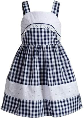 Youngland Girls 4-6x Embroidered Gingham Dress