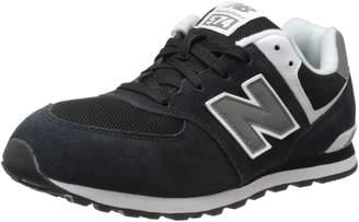 New Balance KL574 Grade Sneaker (Big Kid),Black/Grey/White