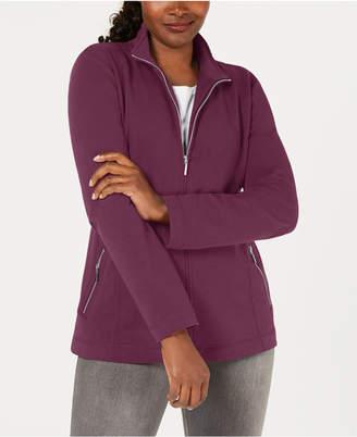 Karen Scott Mock-Neck Jacket, Created for Macy's