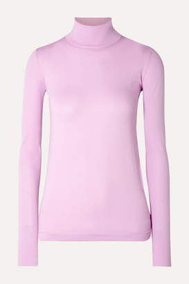 Les Rêveries Stretch-jersey Turtleneck Top - Lilac