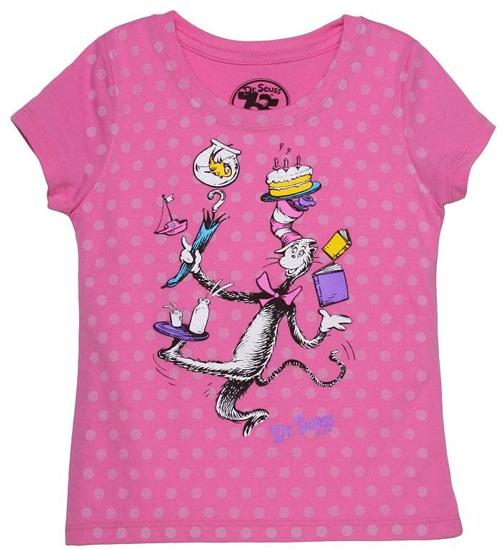 Dr. μ Dr. seuss's the cat in the hat boss cat tee - girls 4-6x