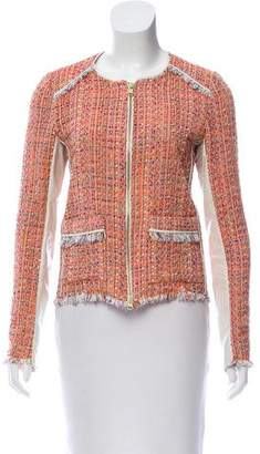 Ramy Brook Leather-Accented Tweed Jacket