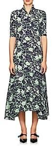 Prada Women's Peony-Print Crêpe De Chine Maxi Dress
