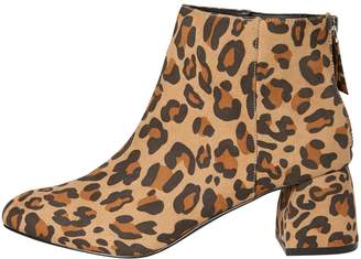 Next Womens Pieces Leopard Print Ankle Boots