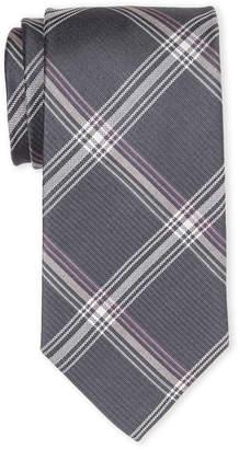 MICHAEL Michael Kors Grey & Pink Plaid Silk Tie