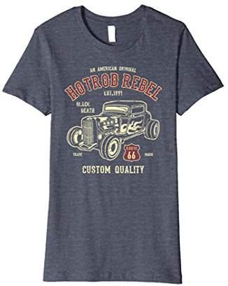 American Retro Womens Distressed Hotrod Muscle Car Design Medium