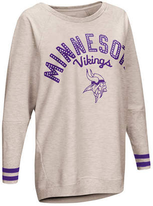 Touch by Alyssa Milano Women Minnesota Vikings Backfield Long Sleeve Top
