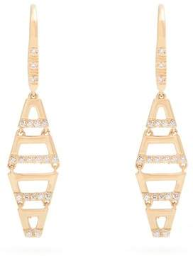 Susan Foster Diamond & yellow-gold earrings