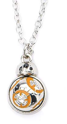 Star Wars Jewelry Women's Episode 8 Base Metal BB-8 Spin Flat Back Pendant Necklace